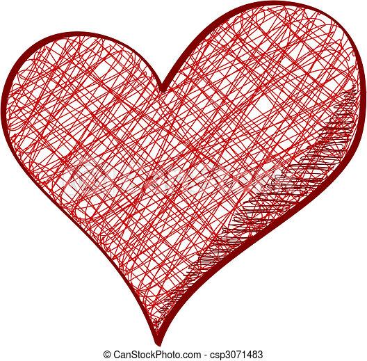 Drawn heart - csp3071483
