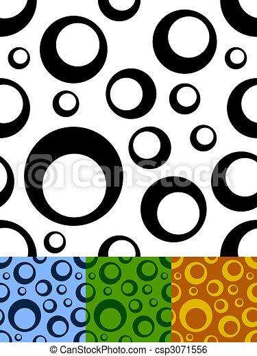 Seamless circles pattern - csp3071556