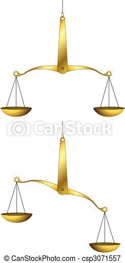Golden weigh-scales - csp3071557