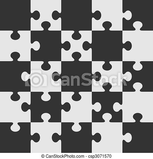 Puzzle vector template. - csp3071570