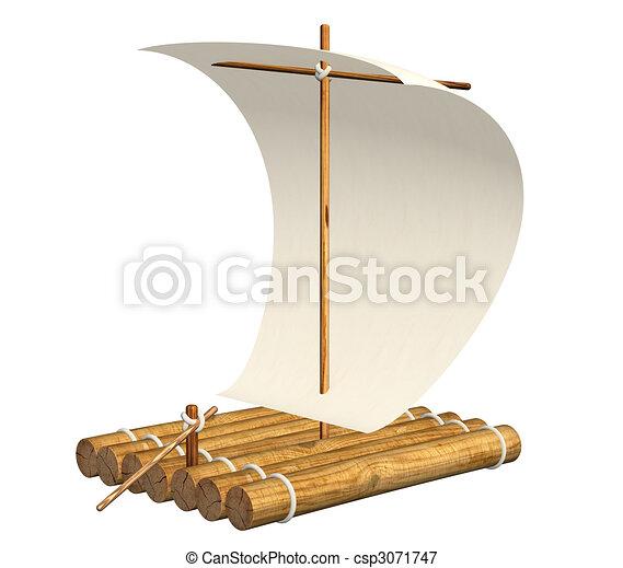 Radeau en bois
