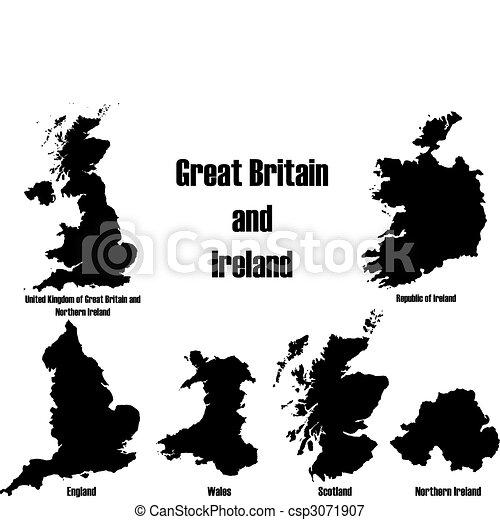 Great Britain + Ireland - csp3071907