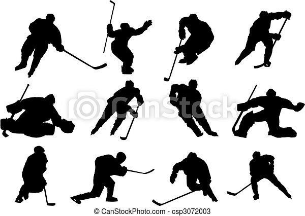 Ice Hockey vector - csp3072003