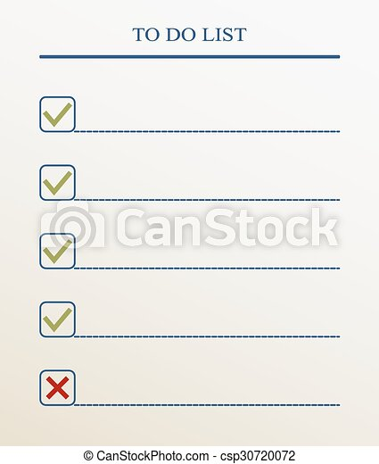 To do list with check mark. Vector format - csp30720072