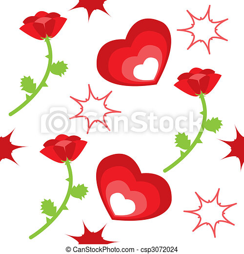Hearts And Roses And Stars Drawings Hearts, roses and stars -