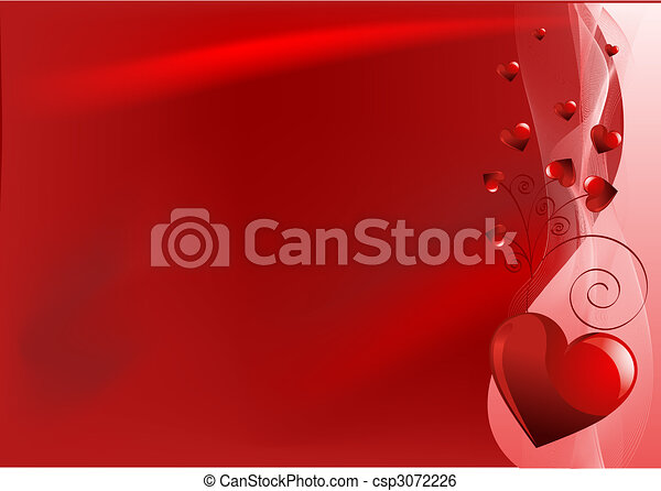 Red Valentine's day background - csp3072226