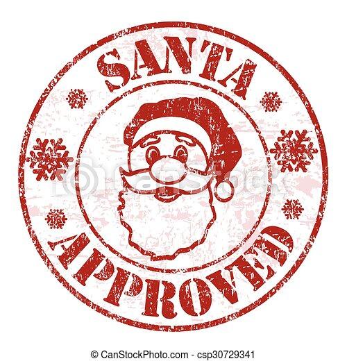 Eps Vector Of Santa Approved Stamp Santa Approved Grunge