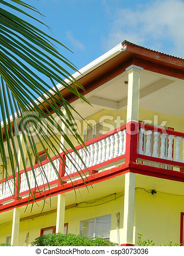 typical architecture caribbean island bequia st. vincent - csp3073036