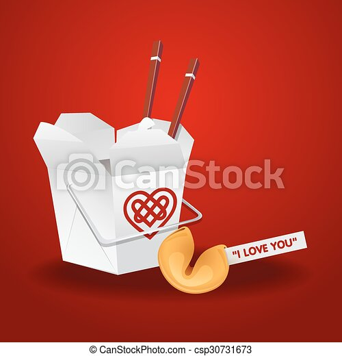 Vectors Illustration of chinese food box with chopsticks and ...