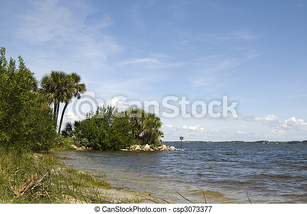 Nature Landscape on Indian River - csp3073377