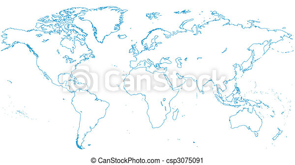 World map | Continents - csp3075091