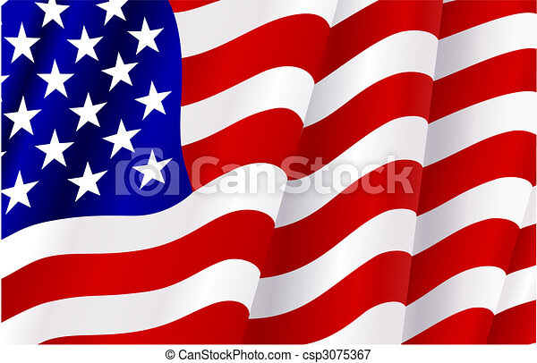 Flag of United States of America - csp3075367