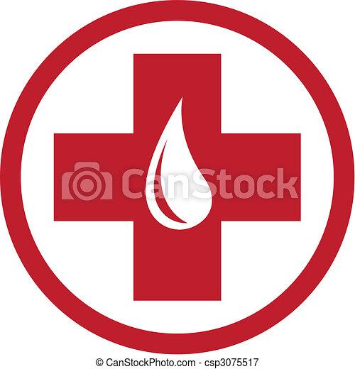 Blood Donation Emblem Template - csp3075517
