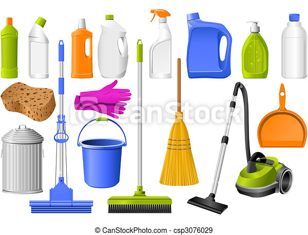 Cleaning icons - csp3076029