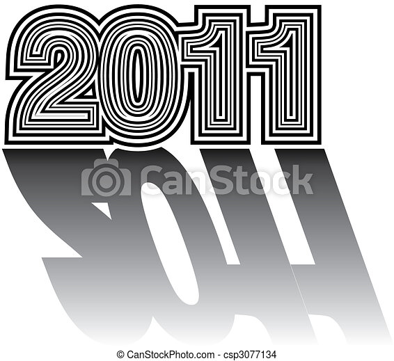 Numerical designation of new 2011 year - csp3077134