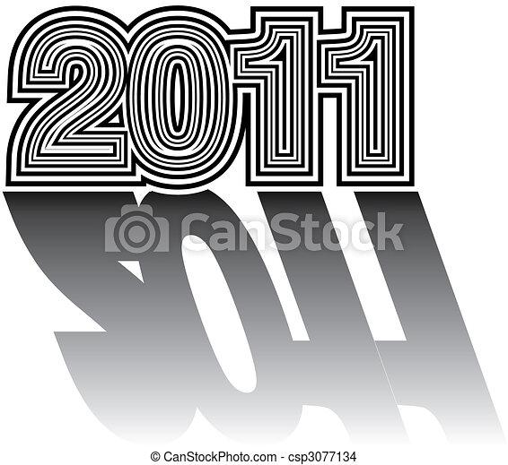 Numerical designation of new 2011 year - csp3077134