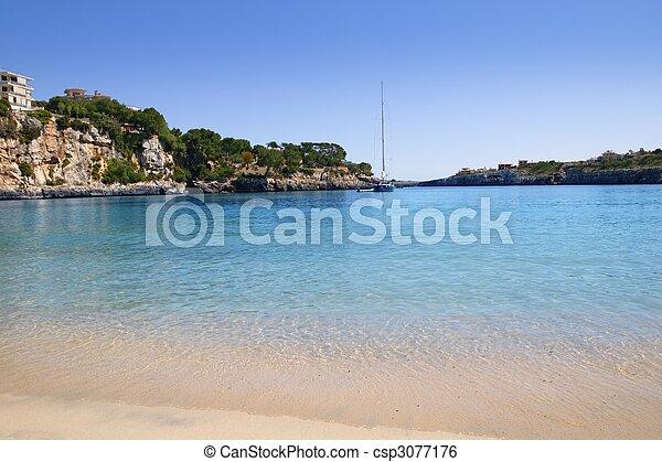 Porto Cristo Mallorca beach Balearic islands - csp3077176