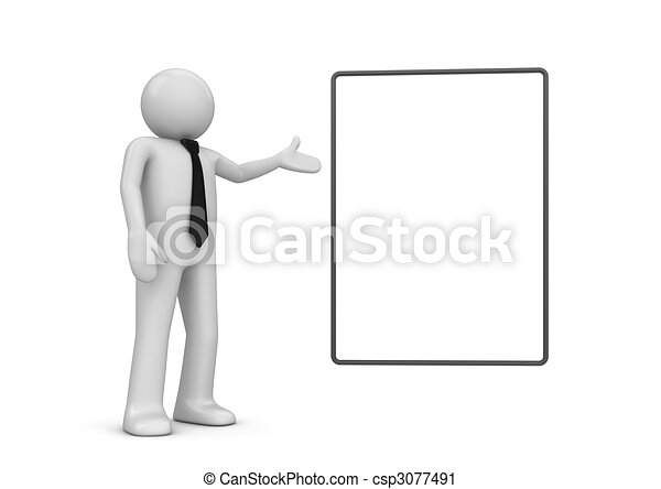 Character pointing copyspace - csp3077491