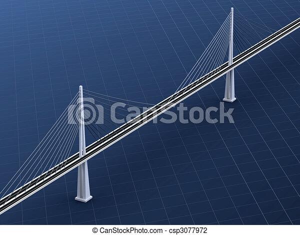 Suspension bridge - csp3077972
