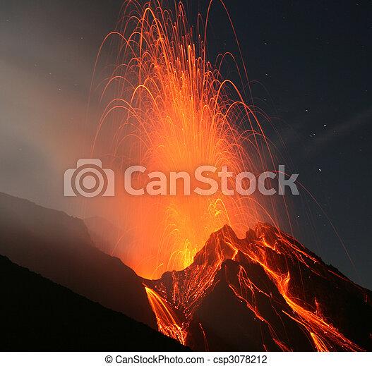 Stromboli volcano - csp3078212