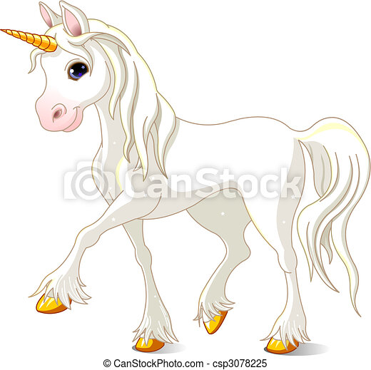 Beautiful White Unicorn - csp3078225
