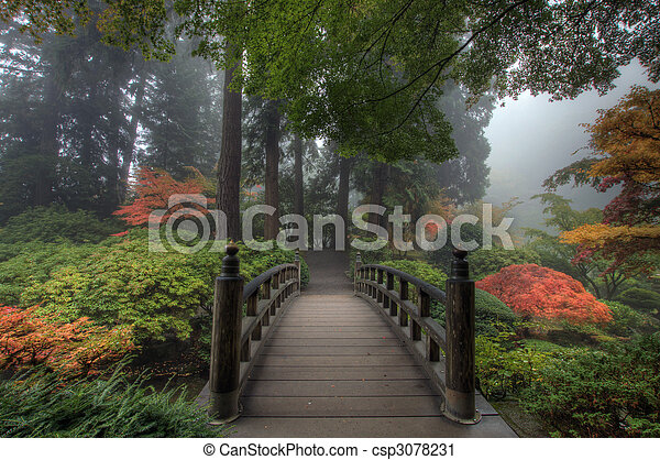 The Bridge in Japanese Garden - csp3078231