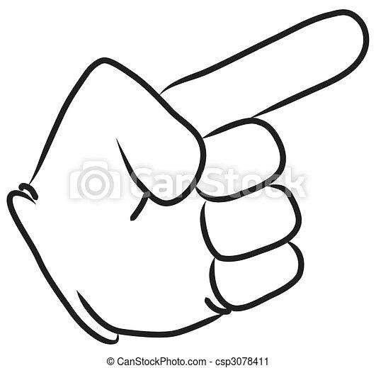 CARTOON HAND POINTING  - csp3078411
