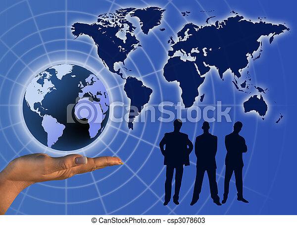 コミュニケーション, 世界的である, ビジネス - csp3078603