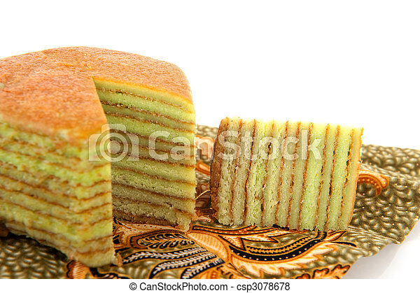 Indonesian layer cake - csp3078678