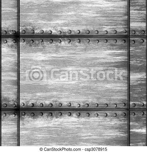 Riveted Metal - csp3078915