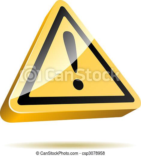 Warning sign - csp3078958
