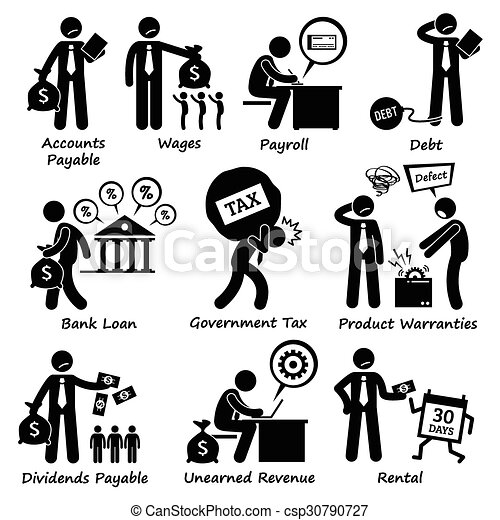 Vector Illustration of Company Business Liability Pictogra - Human ...