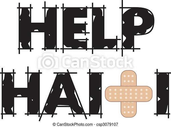 Help Haiti Text 4 - csp3079107