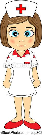 Cute Little Girl Nurse - csp3080359