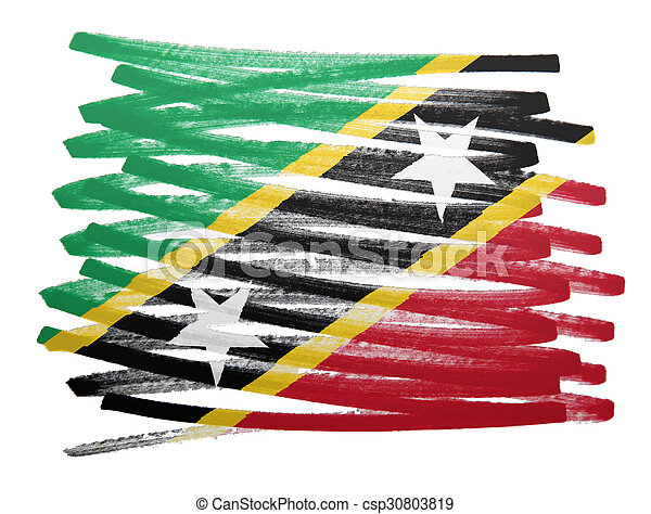 Flag illustration - Saint Kitts and Nevis - csp30803819