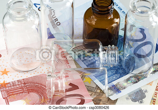 Money and pharmaceutical products - csp3080426