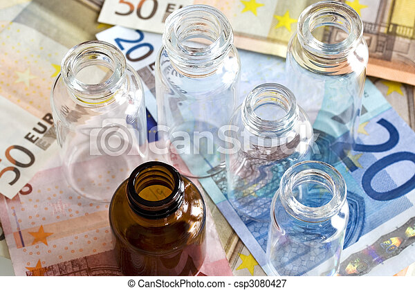 Money and pharmaceutical products - csp3080427