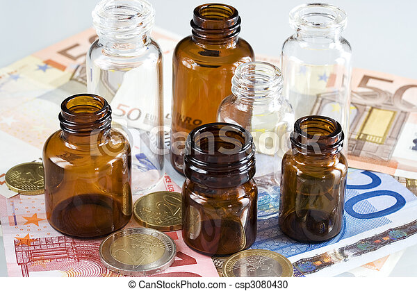 Money and pharmaceutical products - csp3080430