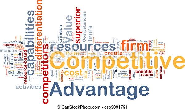 Competitive advantage background concept - csp3081791