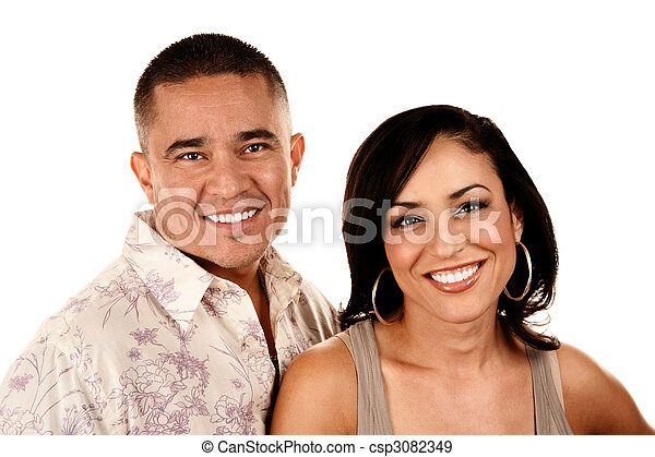 Attractive Hispanic Couple - csp3082349