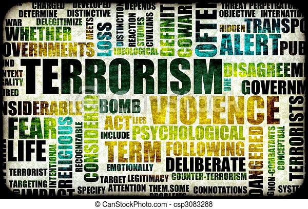 Terrorism Alert - csp3083288
