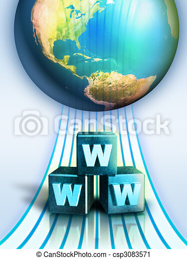 Internet connection - csp3083571