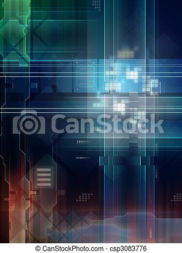 High technology background - csp3083776