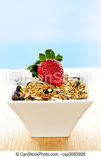 Breakfast granola cereal - csp3083926