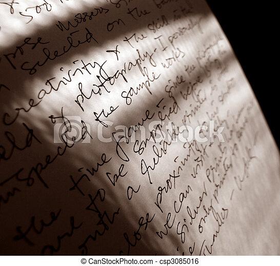 English  handwriting - csp3085016