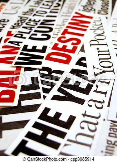 Headlines - csp3085914