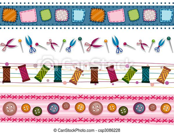 Sewing Borders - csp3086228