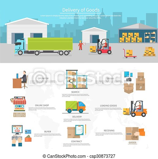 Delivery of Goods Logistics and Transportation