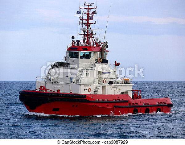 Stock Photographs of Tugboat A1 - Ocean tugboat for offshore oil and ...