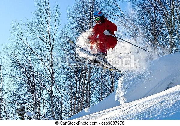 Freeride in Siberia - csp3087978